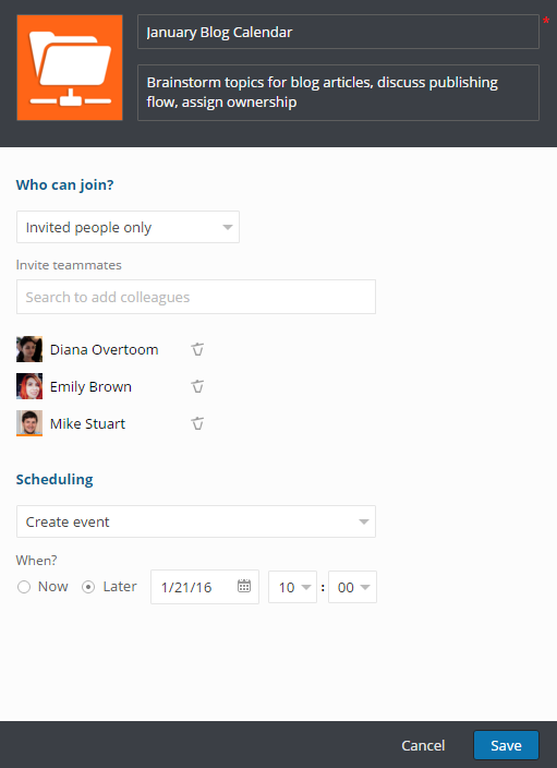 Hubgets Topics - team collaboration without meetings