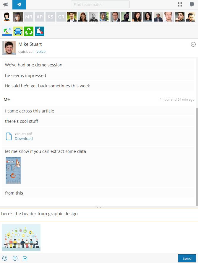 Hubgets Direct Message - instant teamwork